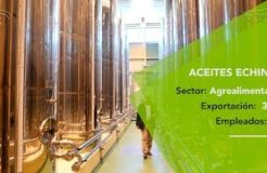 Aceites Echinac alcanza una cuota de exportación del 30% y llega a cuatro continentes