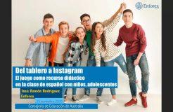 """Webinario """"Del tablero a Instagram: el juego como recurso didáctico en la clase de español con niños y adolescentes"""""""
