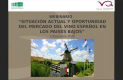 """Webinario """"Situación actual y oportunidad del mercado del vino español en Los Países Bajos"""""""