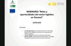 """Webinario Panamá: """"Retos y oportunidades del sector logístico"""""""