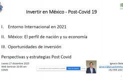"""Webinario """"Retos y oportunidades en el marco del Covid-19 en México"""""""