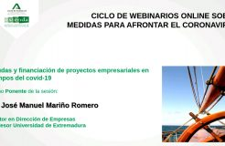 Webinario: Ayudas y financiación de proyectos empresariales en tiempos del COVID-19