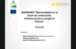 """Webinario Polonia: """"Oportunidades en el sector de construcción, infraestructuras y energía"""""""