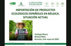 Importación de productos ecológicos españoles en Bélgica. Situación actual