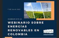 """Webinario: """"El Sector de las Energías Renovables en Colombia"""""""