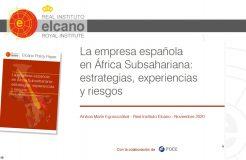 """Webinario """"La empresa española en África Subsahariana"""""""