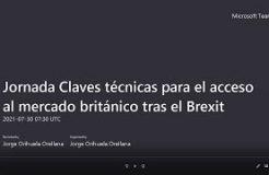 """JORNADA """"CLAVES TÉCNICAS PARA EL ACCESO AL MERCADO BRITÁNICO TRAS EL BREXIT"""""""