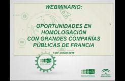 """Webinario: """"Oportunidades en homologación con grandes compañías públicas en Francia"""""""