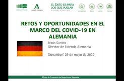 """Webinario Alemania: """"Retos y oportunidades en el marco del COVID-19"""""""