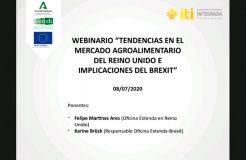 """Webinario """"Tendencias en el mercado agroalimentario del Reino Unido e implicaciones del Brexit"""""""