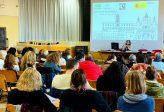 Participantes en la jornada que se celebró dentro de la misión de enseñanza del español a Italia