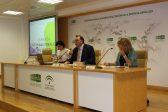 El consejero delegado de Extenda, Arturo Bernal, en la apertura de la jornada 'Internacionaliza Mujeres'