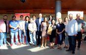 El consejero delegado de Extenda, Arturo Bernal, junto a los participantes en la misión inversa de flamenco