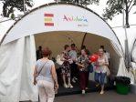 Acceso a la zona dedicada a Andalucía en la muestra Taste of Moscow