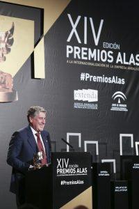 Miguel Gallego, presidente de Migasa, recibe el Premio Alas a la 'Trayectoria Internacional' de empresa