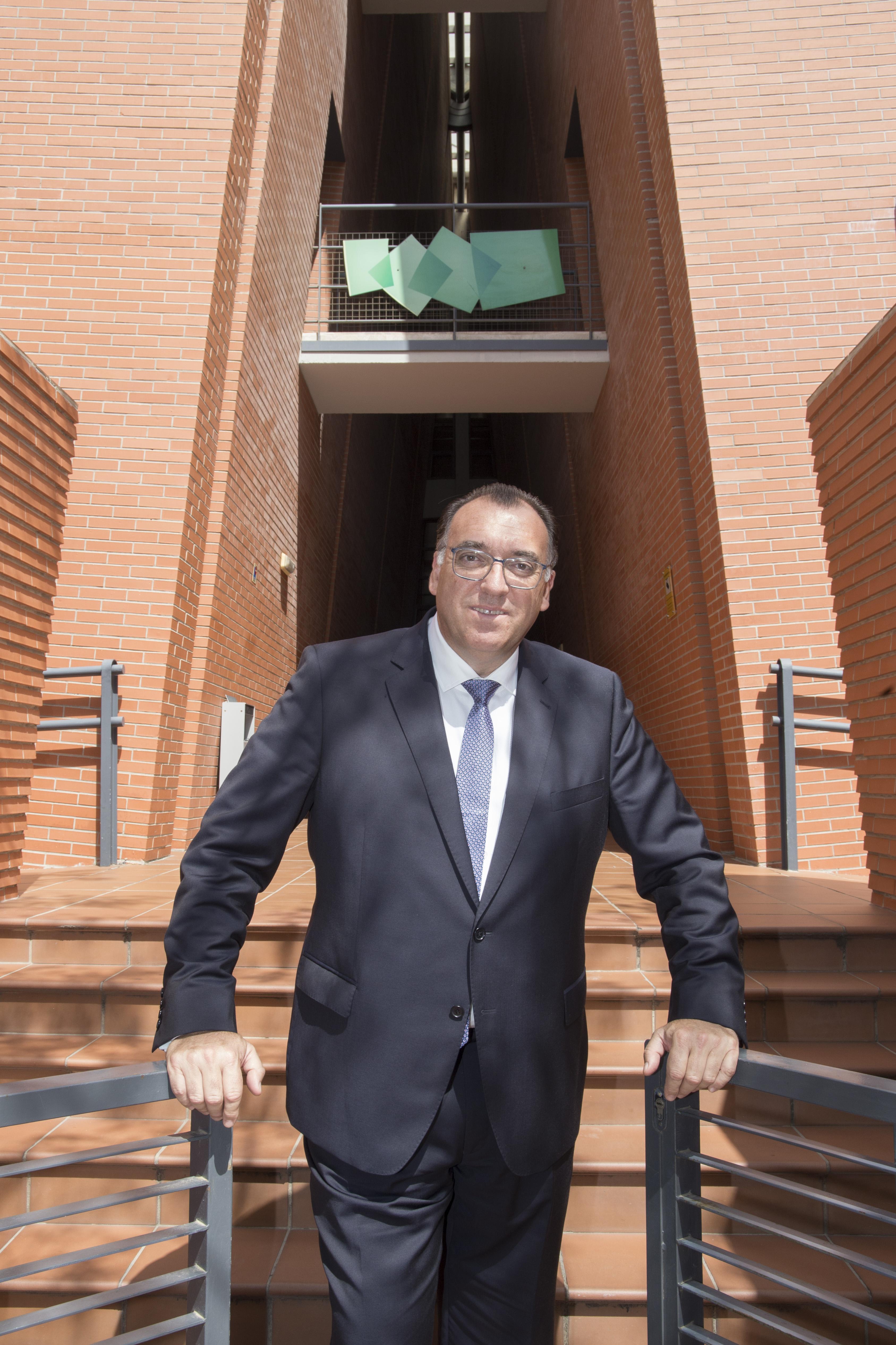Arturo Bernal, consejero delegado de Extenda en la sede de la entidad