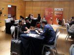 Entrevistas entre los participantes en la misión inversa que se ha celebrado en el marco de la BIenal de Flamenco de Sevilla