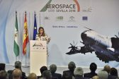 La presidenta de la Junta de Andalucía, Susana Díaz, en la inauguración institucional de la jornada de conferencias de ADM Sevilla 2018